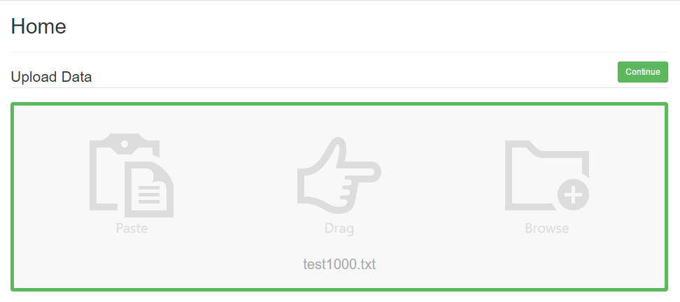 When a file has uploaded successfully the Upload Box will have a green border