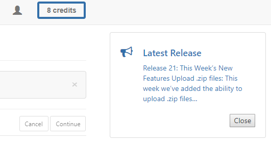 a release notes pop up will display upon log in